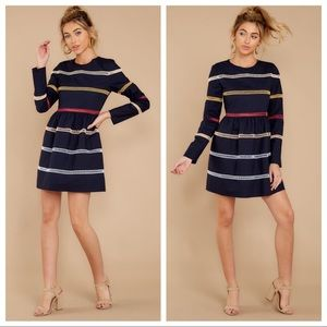 NWT English Factory Sweet As Ever Navy Multi Dress
